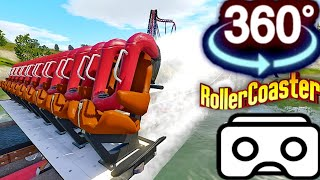 360 video || Roller Coaster Ride Simulation