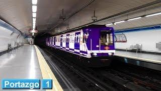 Portazgo L1 : Metro de Madrid ( Serie 2000A )