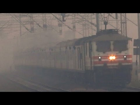 Wap 5  India's Fastest Train Burns Tracks!!!! video