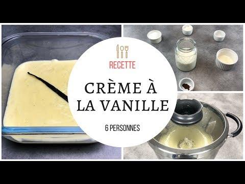 Crème dessert vanille maison façon danette au cook expert magimix / thermomix.