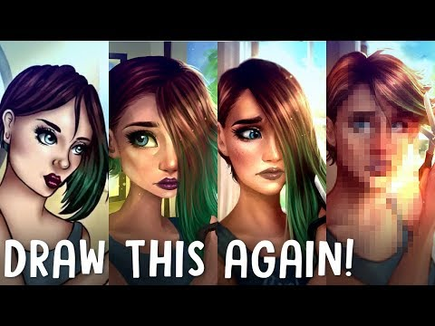 """DRAW THIS AGAIN... AGAIN? - 4 Years Later - Redrawing """"Changes"""" 