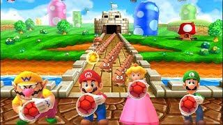 Mario Party: The Top 100 - All Mario Party 9 Minigames: Mario vs Luigi vs Peach vs Wario