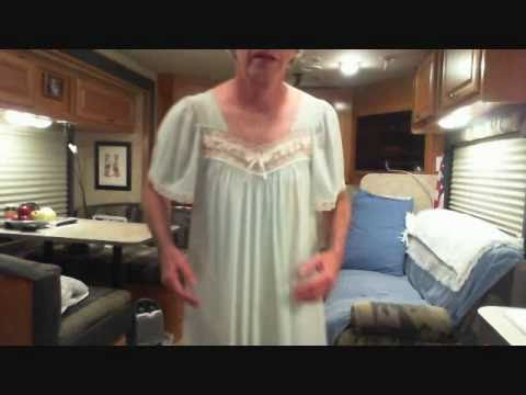 Nightgown Cross Dressed Man in a Nightgown and All-In-One Panty Girdle