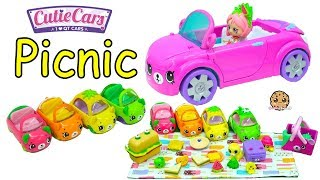 Cutie Cars Picnic with Shoppies Doll Shopkins Happy Places Petkins Car + Surprise Blind Bags