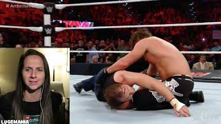 WWE Raw 6/27/16 Dean Ambrose vs AJ Styles