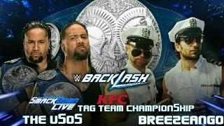 The Uso's vs Breezango | Smackdown Live Tag Team Championship Match (WWE Backlash 2017)