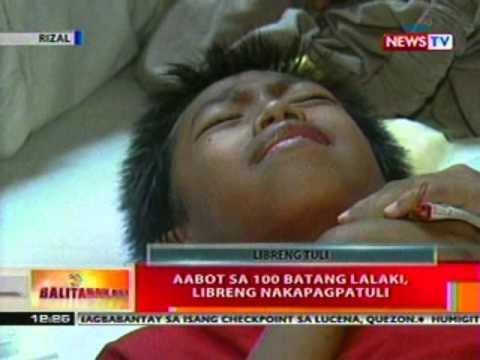 BT: Aabot sa 100 batang lalaki sa Rizal,   libreng nakapagpatuli