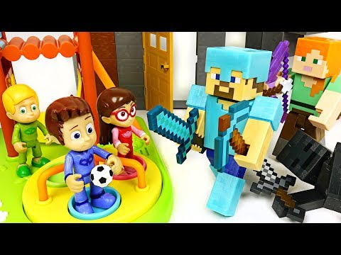 PJ Masks! Escape the room! Could they survive in Minecraft world? - DuDuPopTOY