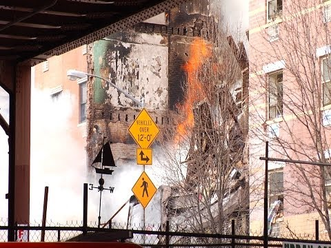 Harlem Building Explosion and Fire at 1644 and 1646 Park Avenue March 12 2014
