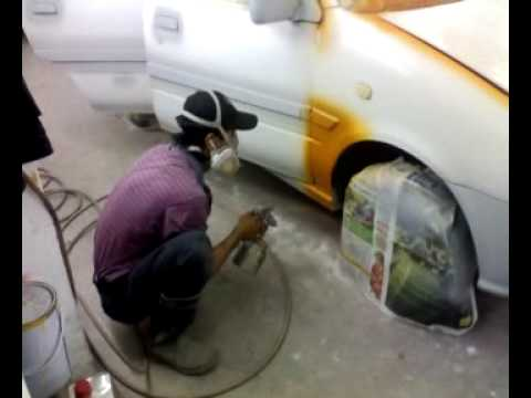 video spray kereta