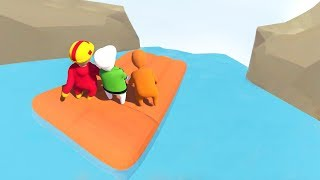 EXTREME DOWN THE WATERFALL WITH FRIENDS! (Human Fall Flat Episode #1)