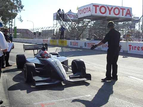 James Davison Leaves the Pits in Practice at Long Beach