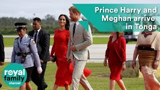 Prince Harry and Meghan arrive in Tonga