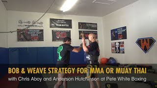 Bob and Weave Strategy for MMA or Muay Thai with Chris Aboy and Anderson Hutchinson