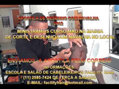 CORTE MASCULINO APOSTILA DE DESENHO COM NAVALHA