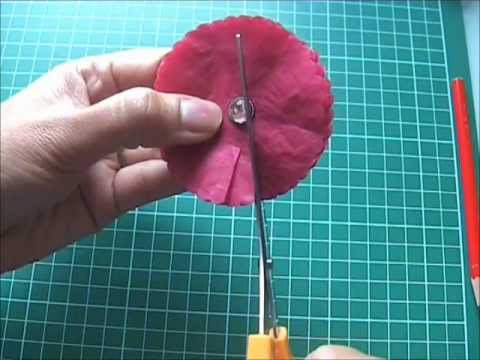 Tutoriel embellissement marguerite en papier de soie youtube - Creation papier crepon facile ...
