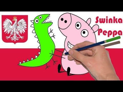 Świnka Peppa - Nowe Wideo - Jak Narysować Świnka Peppa - George - Drawing Świnka Peppa
