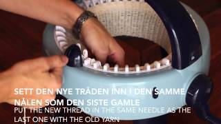 Hvordan strikke en lue / How to knit a hat - Prym Maxi knitting mill