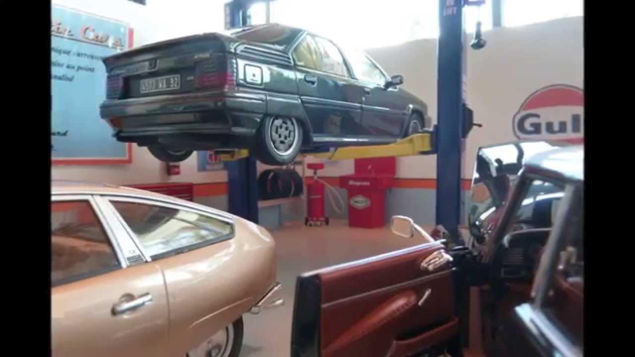 Garage Miniature Diorama 1 18 Antic Cars 3 Youtube