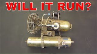 1942 B-17 airplane air compressor. 1500 psi