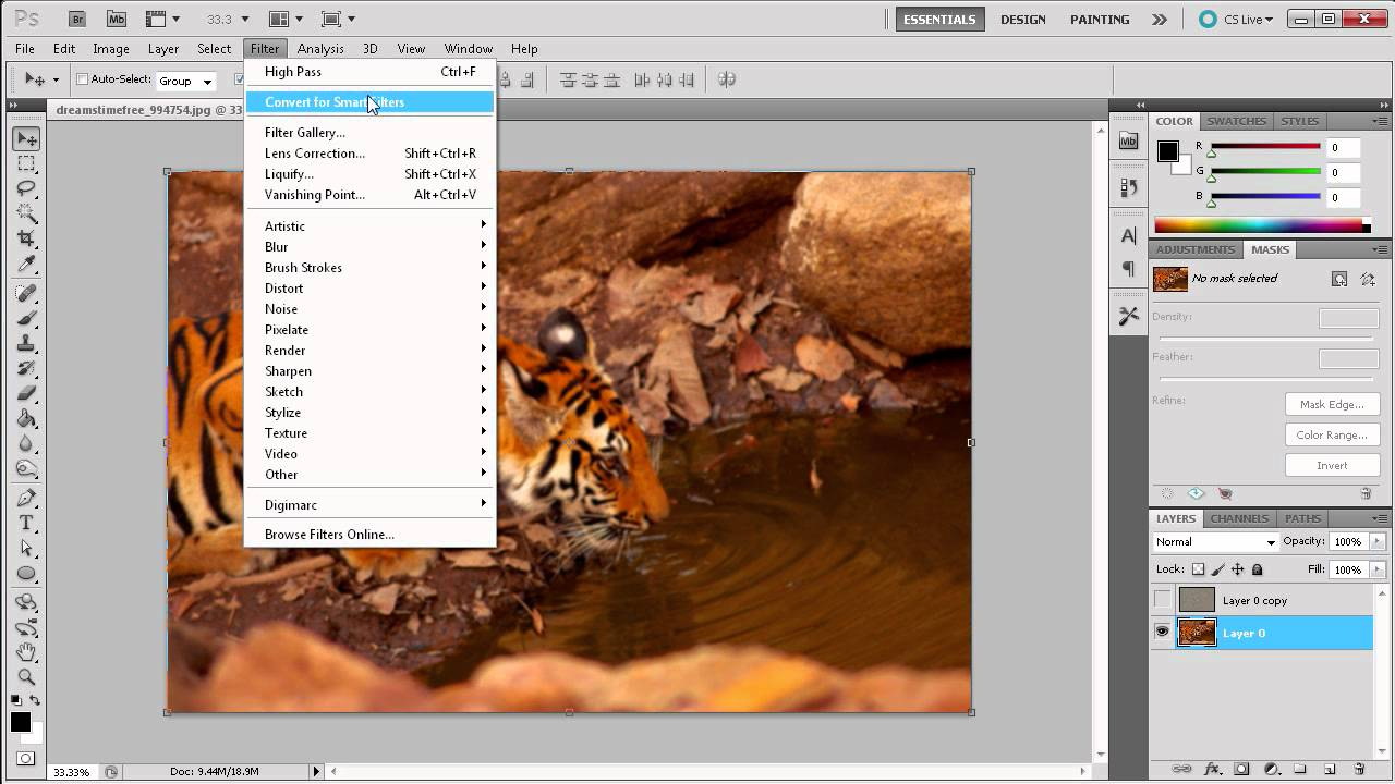 how to add focus in photoshop