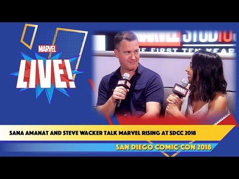 Marvel Rising: Initiation Executive Producers Sana Amanat and Steve Wacker Live at SDCC 2018