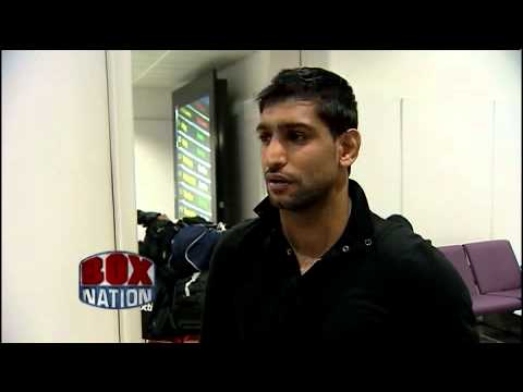 Amir Khan arrives in the UK ahead of Julio Diaz fight on BoxNation