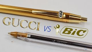 $100 GOLD GUCCI PEN vs $0 BALLPOINT PEN: Which Is Worth The Money?