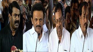APJ Abdul Kalam Funeral - Seeman,M.K Stalin & EVKS Pay Homage