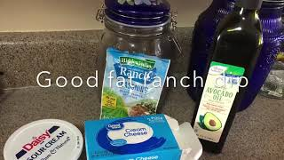 Keto cheese chips and cream cheese ranch dip