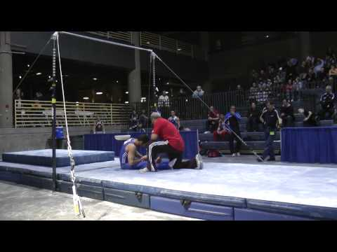 Danell Leyva - High Bar - 2012 Winter Cup Prelims