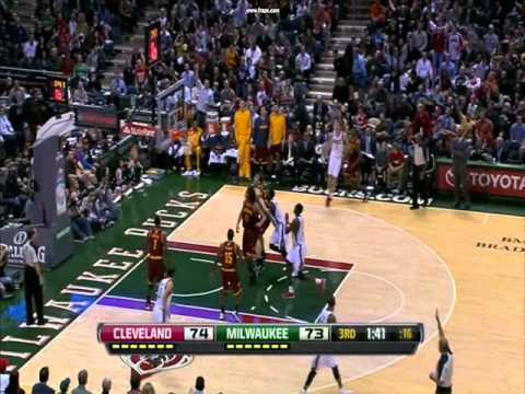 Mike Dunleavy Jr's Six Three Pointers vs Cavs (6/7) - 11/04/12
