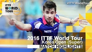 2016 Korea Open Highlights: Ma Long vs Tristan Flore (1/4)