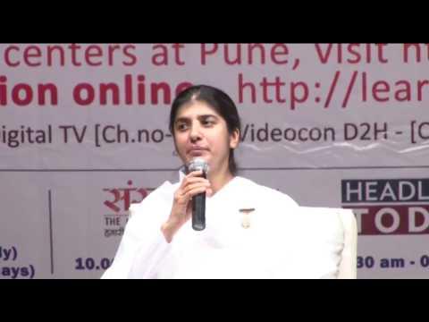 Celebrating Life With Happiness- Bk Shivani Talk At Bal Gandharwa, Pune video