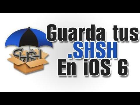 IMPORTANTE  Guarda tus SHSH de iOS 6. 6.1.1. 6.1.2 Para futuro downgrade
