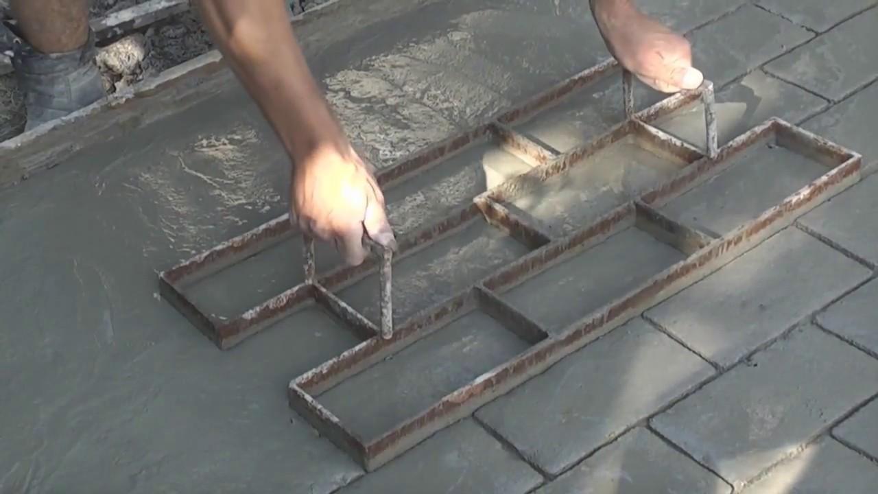 Как сделать бетонную плитку своими руками 62