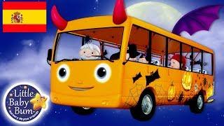 Las Ruedas del Autobús | Especial de Halloween! | Dibujos Animados | Little Baby Bum en Español