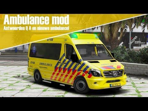 GTA 5 Ambulance mod - Dienst met de nieuwe ambulance + antwoorden Q&A!