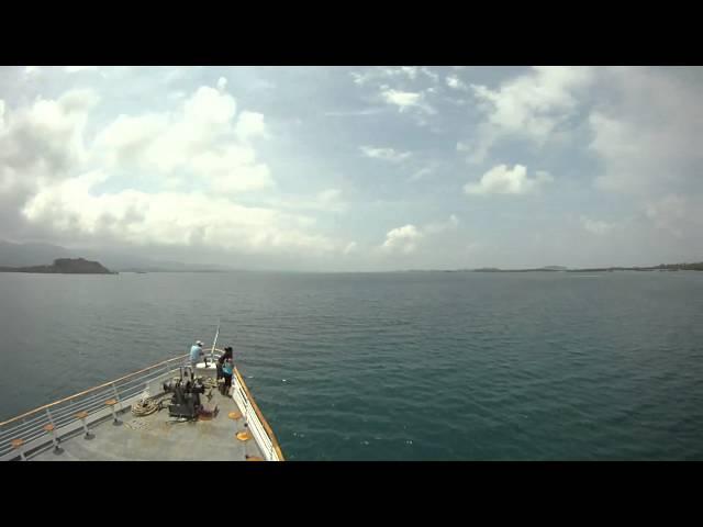 SEA VOYAGER INGRESANDO A ISLA DE ORO