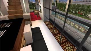 Minecraft ultra modern house villa oasis 02 52