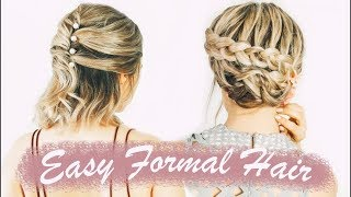 Easy Short Hairstyles For Prom (& Weddings, & Formals!) - KayleyMelissa