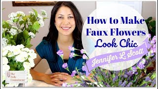 How to Make Faux Flowers Look Chic | Leaf Ribbon