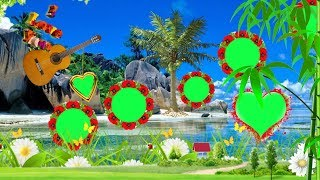 3D Dil Wedding green screen effect background beautiful frame HD project #107