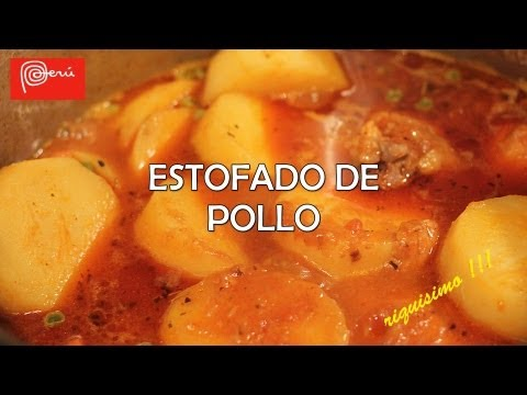 Estofado de Pollo ( receta peruana )  - riquisimo!! Full HD