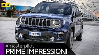 Jeep Renegade 2019 | Fari Full-LED e motore tre cilindri 1.0 da 120 CV (4k video)