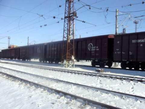 Видео как поезд едет