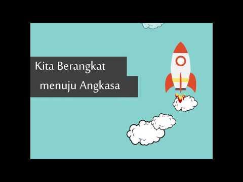 Video Animasi Roket Terbang