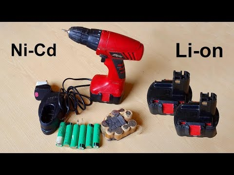 How to convert cordless drill's 14.4 Volts Ni-Cd battery into Li-on 18650 battery / Hx-4S-A01 BMS