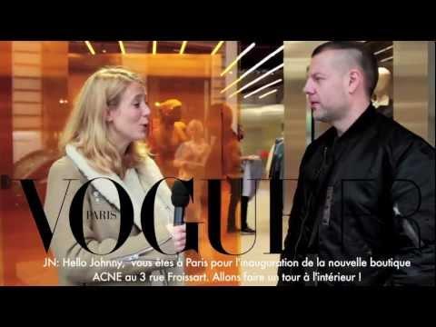 Visite guidée de la nouvelle boutique Acne par Jonny Johansson