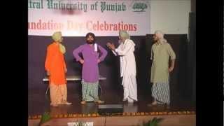 Welcome to Punjab - Mitti Rudan Kare Punjabi Play at Central University of Punjab